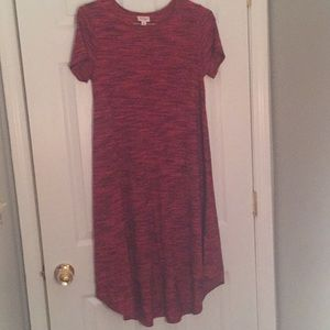 LuLaRoe XS Red and black heathered Carly